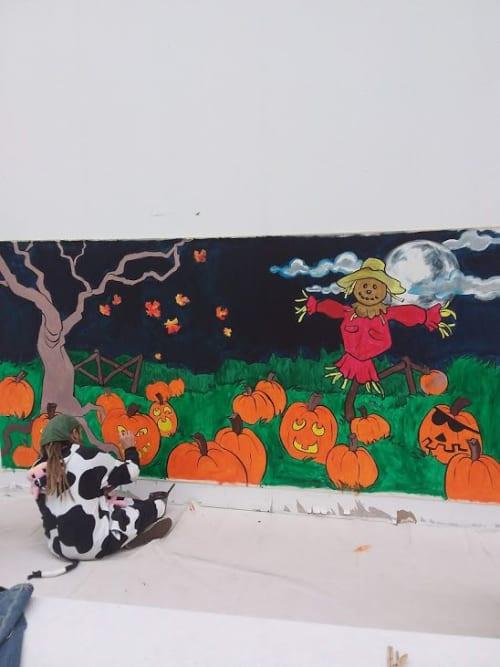 Murals by Shane Wilcox seen at White Oaks Mall, London - Halloween Mural