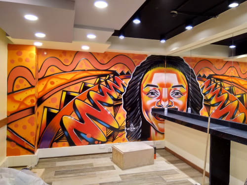 Afro face | Murals by Mr Detail Seven