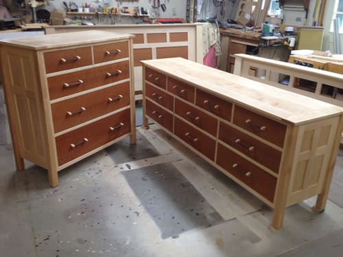 Furniture by barone woodwork seen at Private Residence, Marlboro Township - Bedroom Dressers