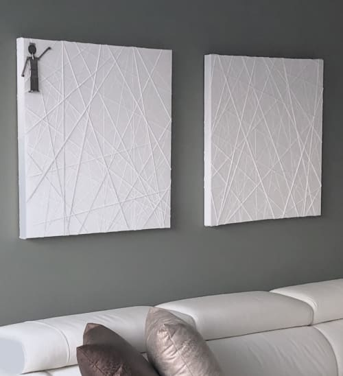 Paintings by sorayart - sorayacaballero seen at Private Residence, Mexico City - Light  white