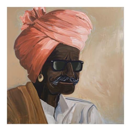 Paintings by Vynka's Art seen at Byron Bay, Byron Bay - Dev - an Indian man with Turban
