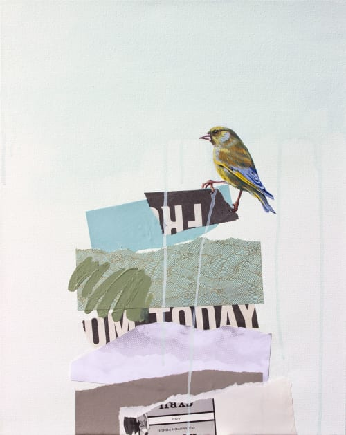 Paintings by Lauren Matsumoto seen at usagi, Brooklyn - The Rise and Fall No. 10