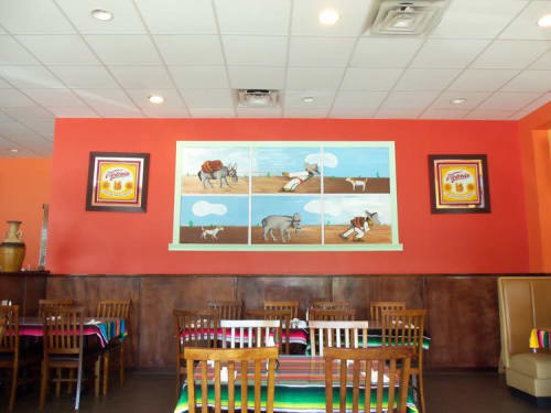 Murals by Wonder What If Art by Julio Gonzalez seen at Taxco Mexican Grill Mint Hill, Mint Hill - Indoor Mural