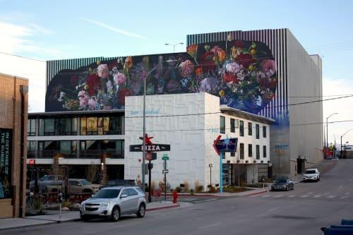 Murals by Erik Burke seen at South Center Street & Pine Street, Reno - Bouquet (Full Circle Doesn't Make a Circle)