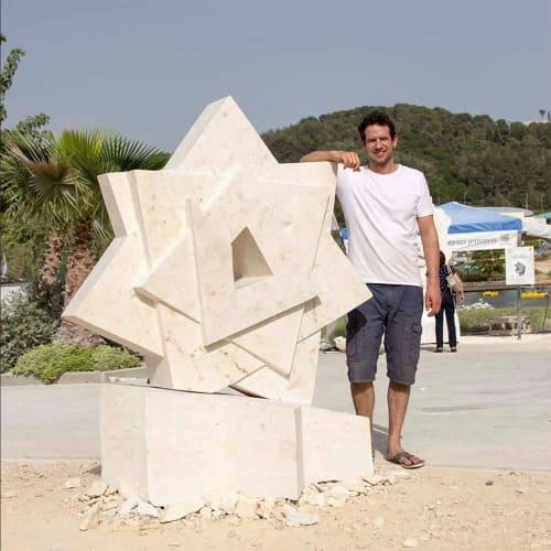 Public Sculptures by Nils Hansen   Sculpture & New Media Art seen at Ma'alot-Tarshiha, Ma'alot-Tarshiha - The Star of Liberty at the new Synagogue in Ma'alot, Israel