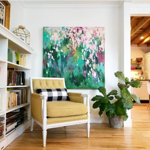 Paintings by Loralee Nicolay seen at Private Residence, Salt Lake City - Large Abstract Painting