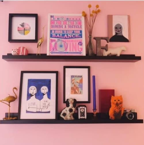 Art & Wall Decor by Nikki Brewster/Nolasean seen at Private Residence, Margate - Bubblegum Candy