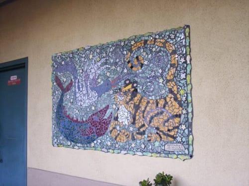 Public Mosaics by Elizabeth Raybee seen at Jean Parker Elementary School, San Francisco - Mosaic Wall Art