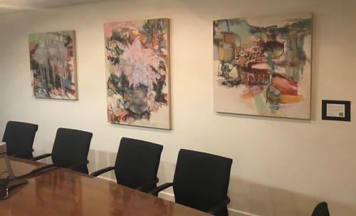 Paintings by Kayo Shido seen at Maimonides Medical Center, Brooklyn - Paintings