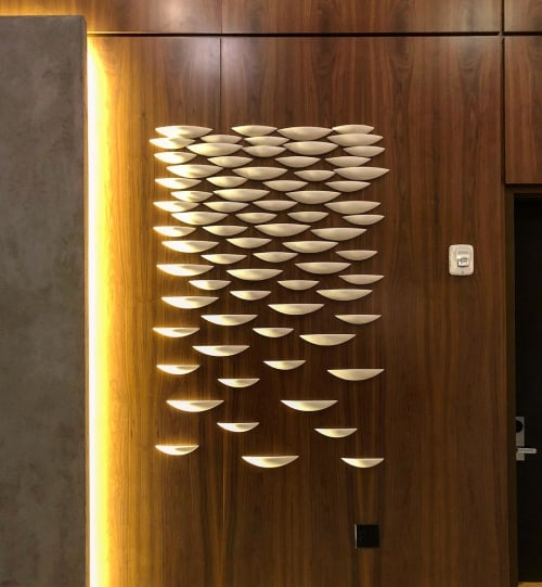 Sculptures by Tabbatha Henry Designs seen at Louisville Marriott Downtown, Louisville - The Clouds