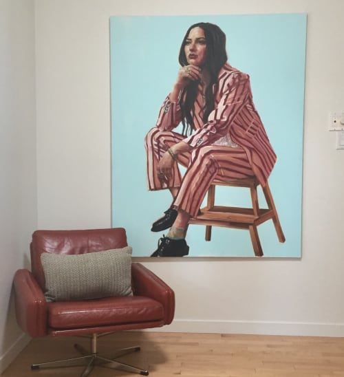Paintings by Shana Wilson: TIME Magazine Cover Artist seen at Edmonton, Edmonton - Striped Suite