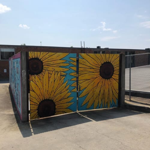 Murals by FoxySwine seen at Private Residence, Atlanta - Sunflowers