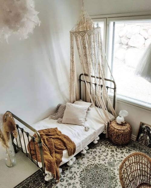 Macrame Wall Hanging by Liinala seen at Private Residence - Macrame canopy