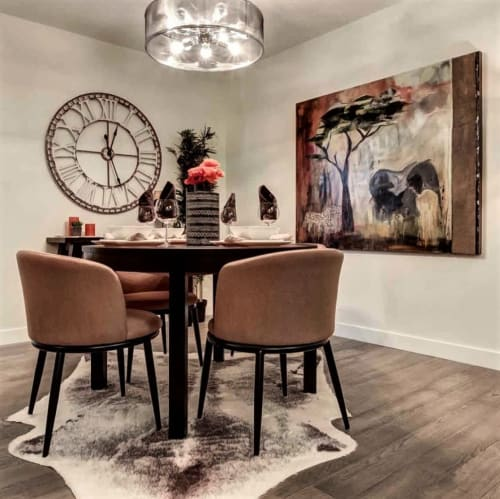Paintings by Marie Manon Art seen at Truman Homes, Calgary - Truman Homes Calgary - 1741