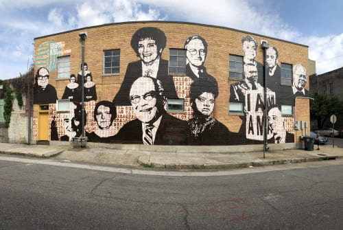 Murals by Nelson Gutierrez Studio at Upstanders Mural (Facing History and Ourselves), Memphis - Memphis Upstanders Mural