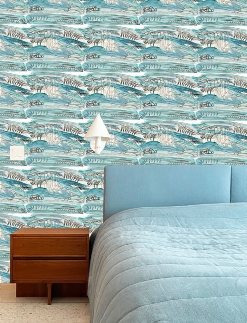 Wallpaper by K'era Morgan seen at Los Angeles, Los Angeles - Closer to Toile in Pistachio and Azure