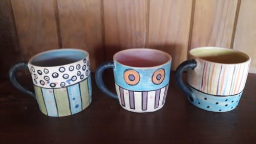 Cups by Cécile Brillet, Tierra i fuego ceramics seen at Private Residence, Oviedo - Ceramic Tea Cup