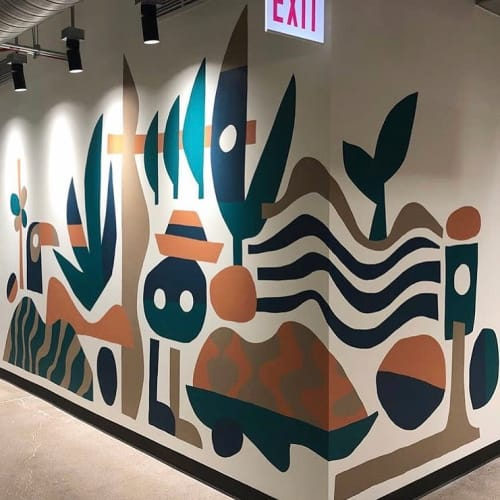 Murals by Cody Hudson seen at 111 N Canal St, Chicago - Indoor Mural
