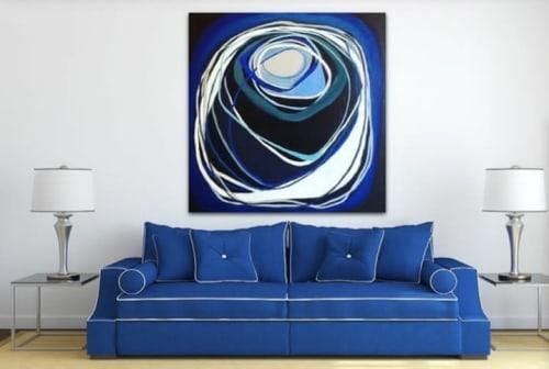 Paintings by Rhonda Davies Art seen at Private Residence, Melbourne - Deep Water