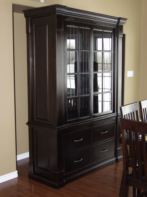 Furniture by VBS Furniture seen at Private Residence, Morris - Large display cabinet