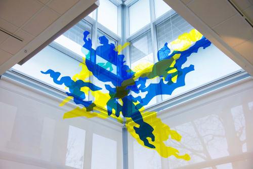 "Public Sculptures by Nicole Mueller seen at Davis, Davis - ""Forming Light"" Sculpture"