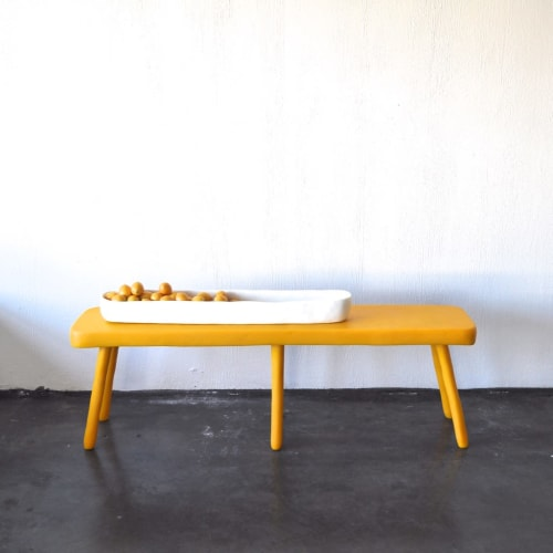 Tableware by Tina Frey seen at Private Residence, San Francisco - Custom Long Resin Bench