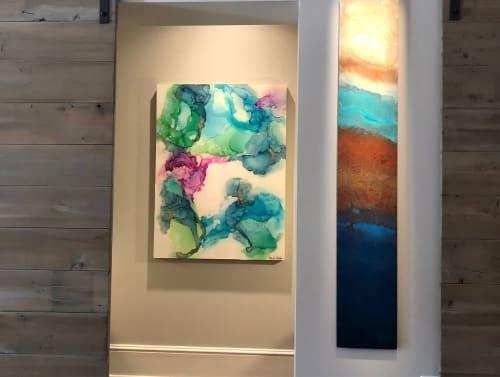 Paintings by Amanda M Moody seen at AVA Gallery, Davidson - hummingbird