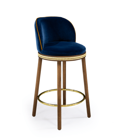 Chairs by Marie Burgos Design and Collection seen at Creator's Studio, New York - Alma Counter Stool