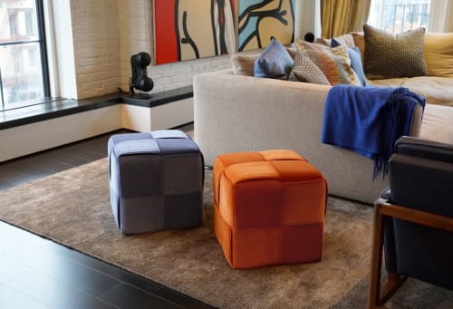 Chairs by Lucy Tupu Studio seen at Private Residence, New York - SOHO Apt- Flax Cubes