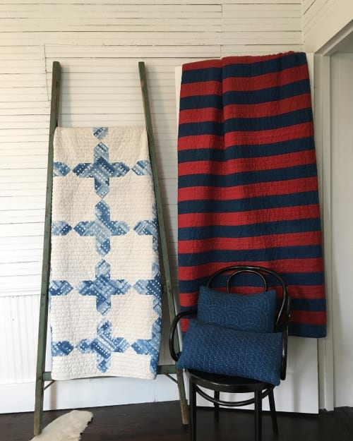Linens & Bedding by Maura Grace Ambrose (Folk Fibers) at Ellison House, Lockhart - Quilt and Pillow