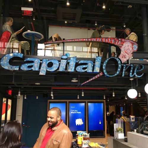 Art & Wall Decor by Paul Carpenter Art seen at Capital One Café, Philadelphia - Capital One Logo Inserts