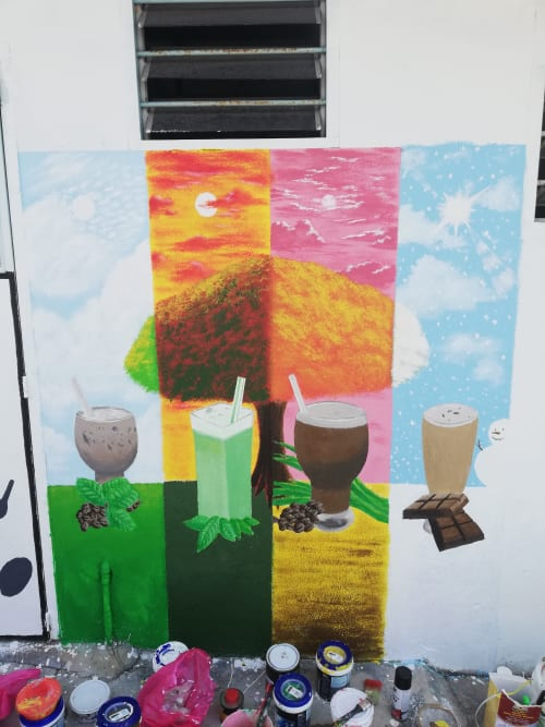 Murals by Kaeious Art seen at Kopisan Baru, Gopeng - Seasoning Drinks in Kopisan