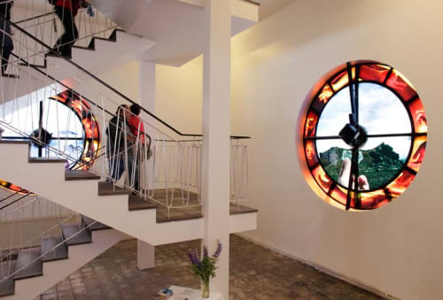 """Architecture by Jo Yarrington seen at Hallgrimskirkja, Reykjavík - """"Beating Time, 2013"""""""