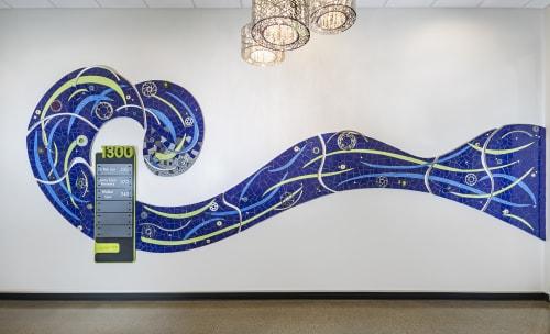 Public Mosaics by Stacia Goodman Mosaics seen at 1300 Lagoon Building, Minneapolis - Big Blue Wave