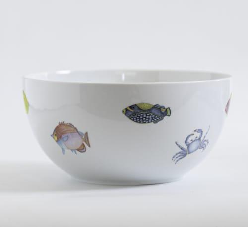 "Ceramic Plates by Letografia seen at Madrid, Madrid - Salad bowl illustrated ""Mare Nostrum"""