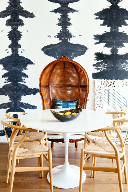 Wallpaper by Porter Teleo seen at Mission Dolores Townhouse, San Francisco - Custom Ink Blots Wallcovering