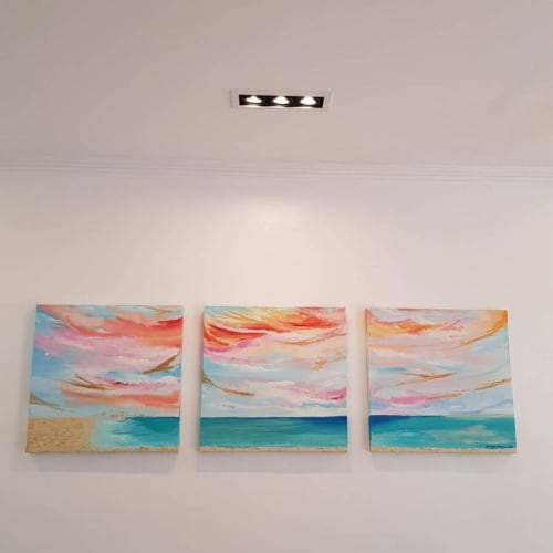 Paintings by Lala Jara-Tuazon seen at Private Residence, Manila - Sunset Sessions