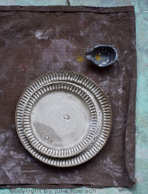 Ceramic Plates by ugly duckly ... handmade ceramics by Tina Kami seen at Private Residence, Hamburg - Plate