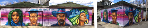 Street Murals by Rahmaan Statik Barnes seen at Private Residence, Chicago - And still I rise