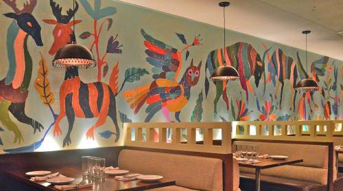 Murals by ABEL MACIAS STUDIO seen at Dos Caminos, New York - ANIMALES