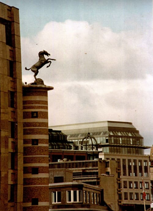 Public Sculptures by jUDY BOYT seen at Middlesex Street, London - Rebellion