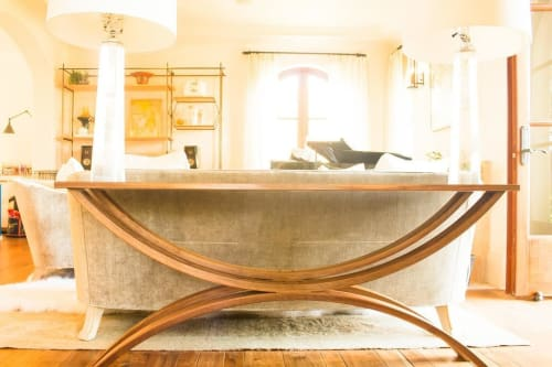 Tables by Open Door Furniture seen at Private Residence, San Diego - Arched Sofa Table