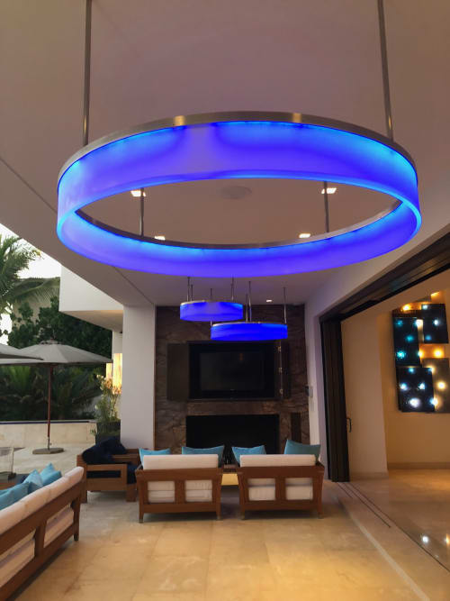 Lighting by Philip Nimmo seen at El Dorado Golf & Beach Club, San José del Cabo - Acrylic Stainless Steel Light Fixtures