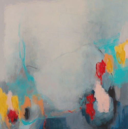"Paintings by Rita Vindedzis seen at Private Residence, Toronto - ""Heart Strings"" Abstract Painting"