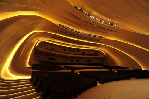 Interior Design by Mikodam Design seen at Heydar Aliyev Centre, Bakı - Heydar Aliyev Center Auditorium, Acoustic Design