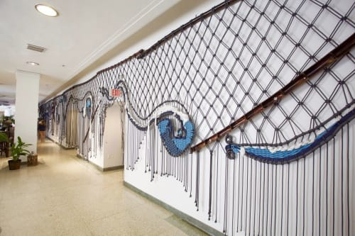 Macrame Wall Hanging by Kandilandia seen at Marseilles Hotel, Miami Beach - Talisman for the Tempest