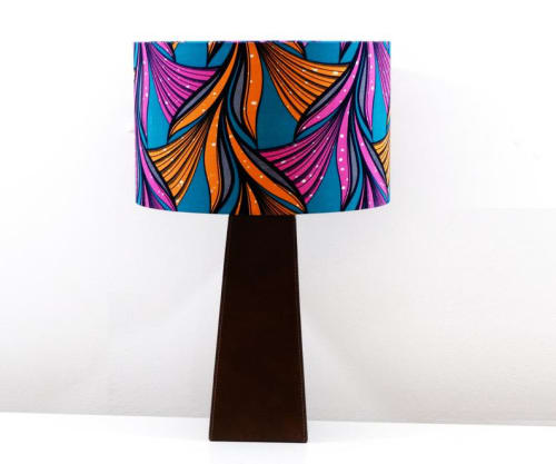 Lamps by MyAnkaralove seen at Private Residence, Ipswich - African Wax Print Lampshade
