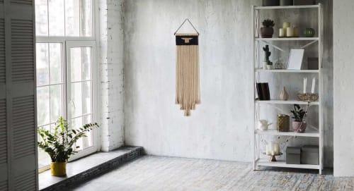 Macrame Wall Hanging by YASHI DESIGNS - Tall Rustic Woven Jute Tapestry - AMARA