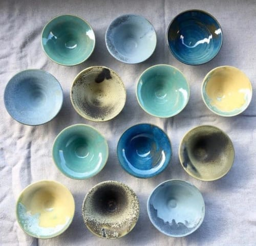 Ceramic Plates by Sayaka Ogawa Ceramics seen at Private Residence - Wheel thrown bowls