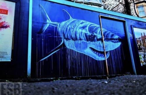 Street Murals by Sophielongart seen at Cheltenham Road, Bristol - Great White Art